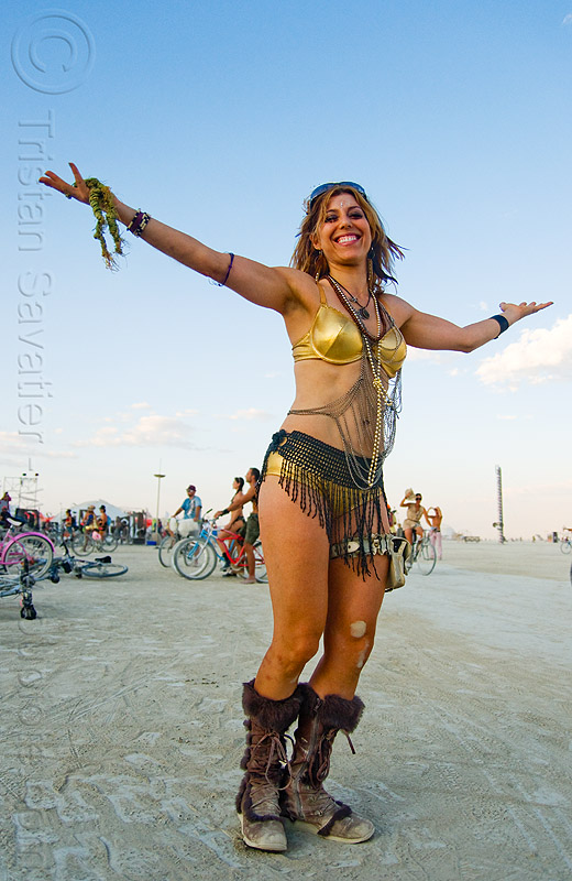 woman calling the full moon to rise - burning man 2009, brooke bryant, women