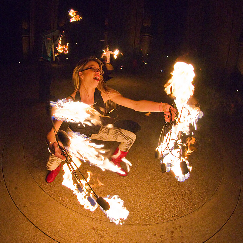 woman dancing with fire fans - cressie mae, cressie mae, fire dancer, fire dancing, fire fans, fire performer, fire spinning, flames, night, woman