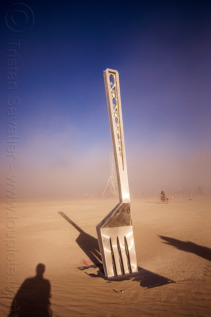 WTF? what the fork? - burning man 2015, art, burning man, fork, giant, sculpture