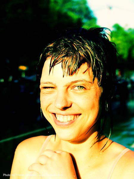 anke rega, cross-processed, dxpro, festival, people, songkran, woman, ประเทศไทย, สงกรานต์