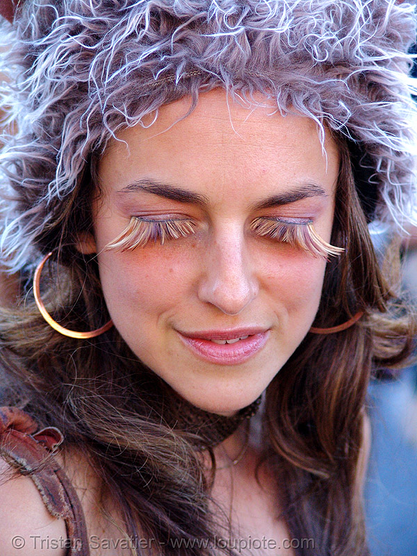 eyelash extensions, burning man decompression, eyelashes, people, woman
