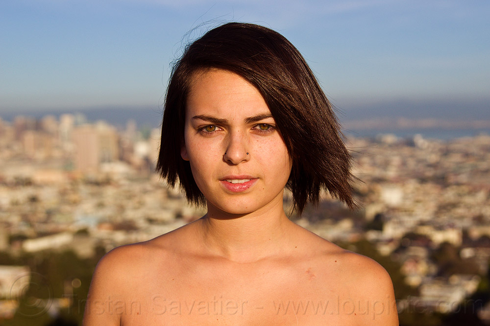 zoey, nose piercing, nostril piercing, woman