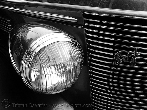 1937 buick century - headlight - the american dream, 1937, american dream, automobile, buick century, classic car, front, hardlight, johnny stokes
