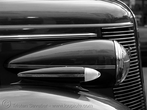 1937 buick century - headlights - the american dream, 1937, american dream, automobile, buick century, classic car, front, headlight, hood, johnny stokes