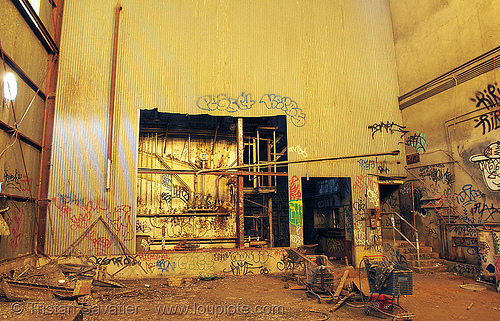 abandoned factory (san francisco), derelict, tie's warehouse, trespassing