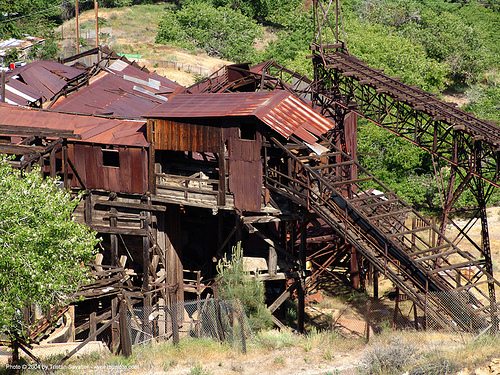 abandoned mercury smelter - new idria, cinnabar smelter, mercury pollution, rusty, trespassing