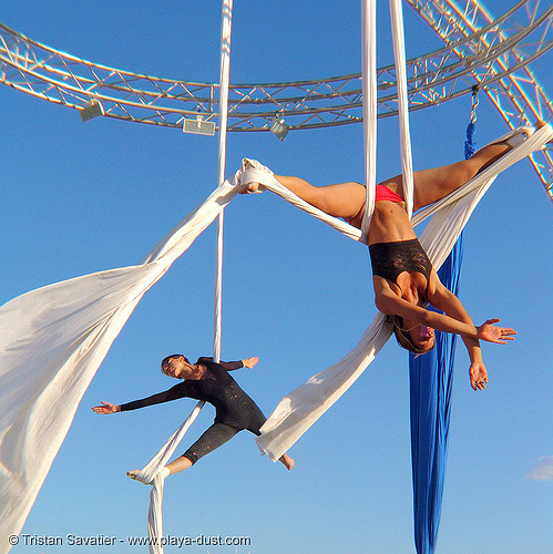 aerial acrobatics - ruth parra - burning-man 2005, burning man, ruth parra, woman