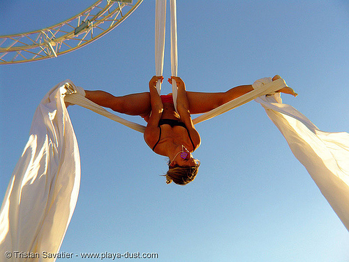 aerial acrobatics - ruth parra - burning-man 2005, art, burning man, ruth parra, woman