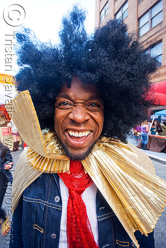 afro hair style, african american man, afro hair, black man, how weird festival