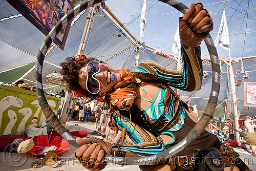 ahni radvany hooping at center camp - burning man 2010, ahni radvanyi, burning man, hula hoop, hula hooper, hula hooping, mini hoop, woman
