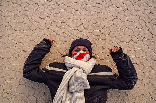 alexandra on the racetrack - death valley, cracked mud, death valley, dry lake, dry mud, mountains, racetrack playa, woman