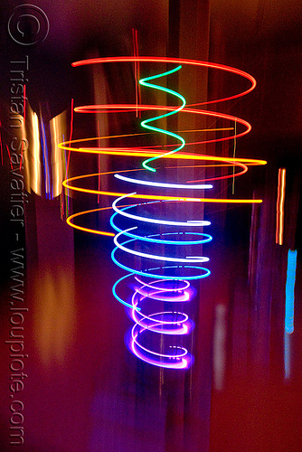 alien technology - electromechanical art by carl pisaturo (san francisco), area 2881, art, carl pisaturo, electromechanical, glowing, led lights, led-light, long exposure, mapp, moving, orbit machine, robotic