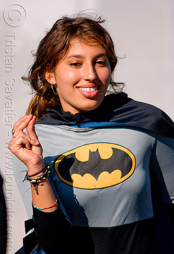 allison - superhero street fair (san francisco), allison, batman costume, islais creek promenade, superhero street fair, woman