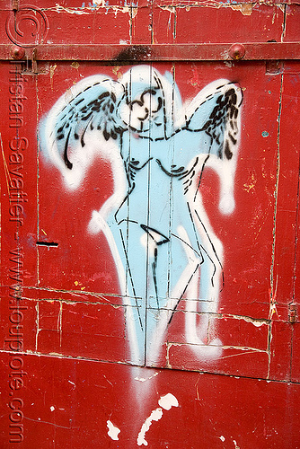 angel stencil graffiti (paris), angel wings, graffiti, paris, stencil, street art