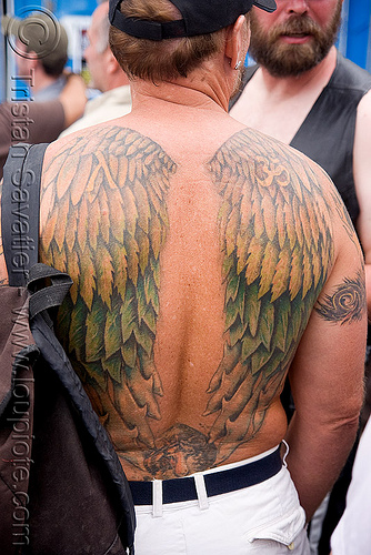 "tattoo - angel wings. Angel tattoo - ""Dore Alley"" - ""Up Your Alley Fair"""