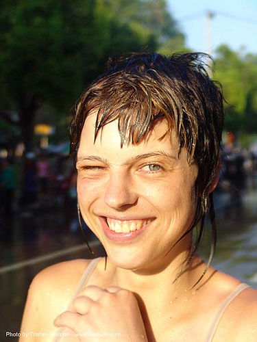 anke rega - chiang mai - songkran festival (thai new year) - thailand, anke rega, chiang mai, soaked, songkran, thai new year, water festival, wet, woman, ประเทศไทย, สงกรานต์, เชียงใหม่