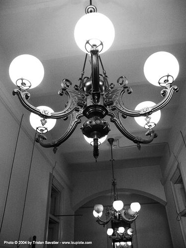 chandeliers - sf-old-mint, ceiling, ceiling lights, lamps, light globes, lighting, lighting fixtures, old mint, san francisco old mint