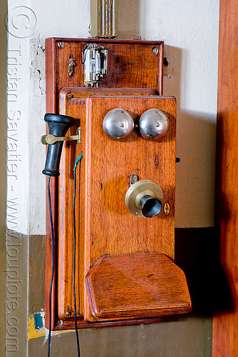 antique telephone - san antonio de los cobres train station (argentina), argentina, dynamo, hand crank, noroeste argentino, old, railroad, railway, san antonio de los cobres, telephone, train station, tren a las nubes, wall phone
