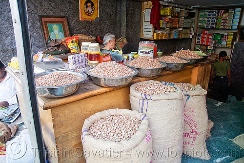 areca nuts (betelnut) bulk shop, delhi, india