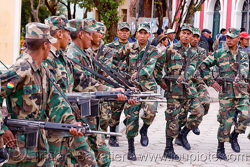 army exercice - uyuni (bolivia), armed, army, assault weapons, automatic weapons, bolivia, exercise, fatigues, guns, infantery, military, rifles, soldiers, training, uniform, uyuni