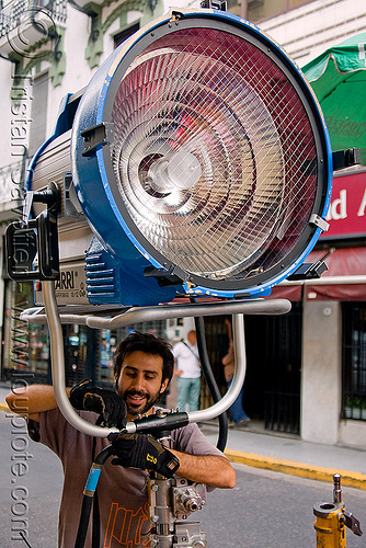 arri arrimax 18/12 movie lighting - floodlight, arri, arrimax, buenos aires, floodlight, hmi light, lighting, man, technician
