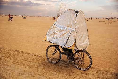 art bicycle - burning man 2016, art bike, bicycle, burning man, riding, unidentified art