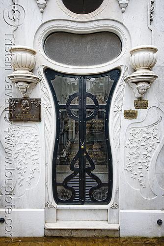 art nouveau tomb door - vilas lopez - recoleta cemetery (buenos aires), grave, graveyard, jugendstil
