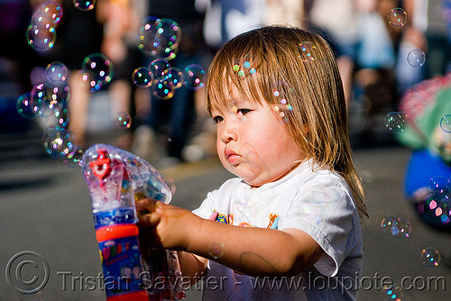 asian kid with bubble gun, boy, bubble gun, darius, haight street fair, kid, playing, small, soap bubbles, toddler, toy gun, young child