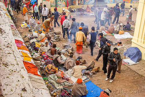 babas, sadhus and hindu pilgrims at the shivaratri festival (nepal), babas, crowd, hindu, hinduism, kathmandu, maha shivaratri, man, pashupatinath, sadhus, walking