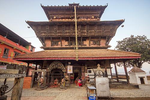 bagh bhairav temple - kirtipur (nepal), hindu temple, hinduism, people