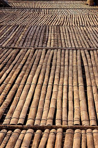 bamboo walkway - annah rais longhouse (borneo), street, village
