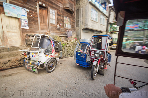 tricycles - rural public transportation (philippines), banaue, philippines