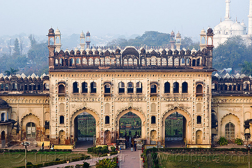 bara imambara gate - lucknow (india), architecture, asafi imambara, bara imambara, gate, islam, lucknow, monument, shia shrine