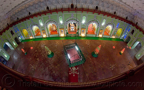 bara imambara - main hall - lucknow (india), architecture, asafi imambara, bara imambara, fisheye, graves, hall, inside, interior, islam, lucknow, monument, shia shrine, tombs