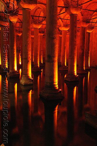 basilica cistern (istanbul), basilica cistern, columns, reflection, sultanahmet, vaulted, vaults, water, yerebatan sarayı, yerebatan sarnıcı