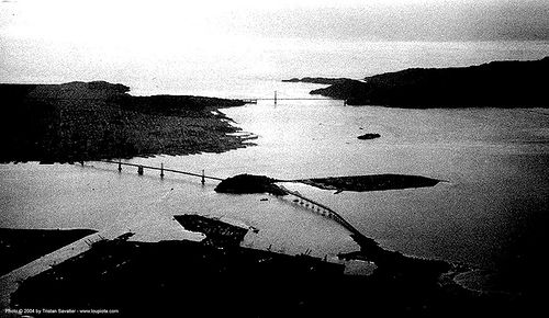 san-francisco, aerial photo, bridges, island, ocean, san francisco bay, sea, sf bay