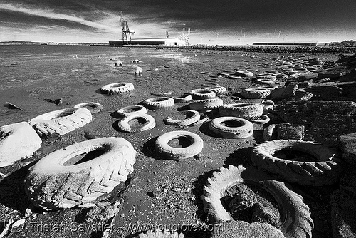 beach pollution - toxic beach (san francisco), beach, environment, pollution, seashore, tires
