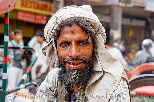 bearded wallah portrait - delhi (india), india, man, porter, wallah, worker