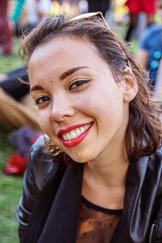 beautiful smile - cynthia, burning man decompression, woman