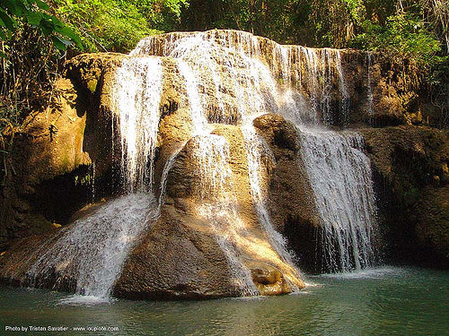 beautiful waterfall (thailand), cascade, cave formations, falls, speleothems, thailand, waterfall