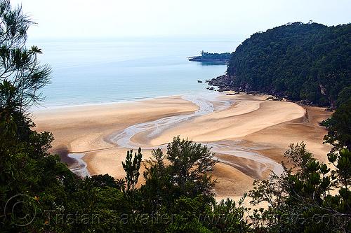 besar beach - baku national park near kuching (borneo), estuary, ocean, river, sand, sea, seashore, shore, telok pandan besar