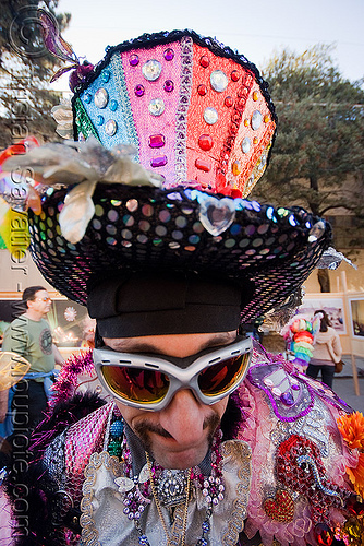 big hat - burning man decompression 2008 (san francisco), burning man decompression, guy, hat, sunglasses