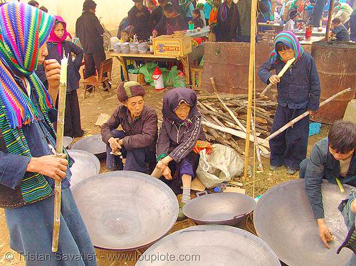 big woks - vietnam, hill tribes, indigenous, mèo vạc, street market