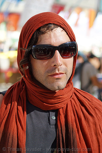 bijan in center camp - burning man 2007, burning man, sunglasses