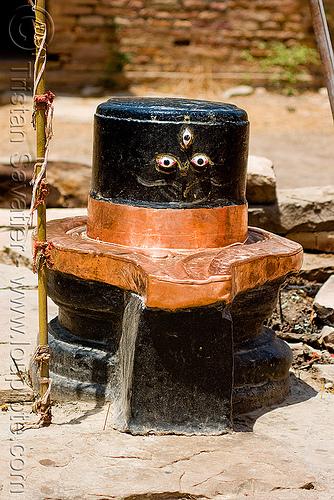 black lingam with three eyes (india), eyes, gwalior, hinduism, india, shiva lingam