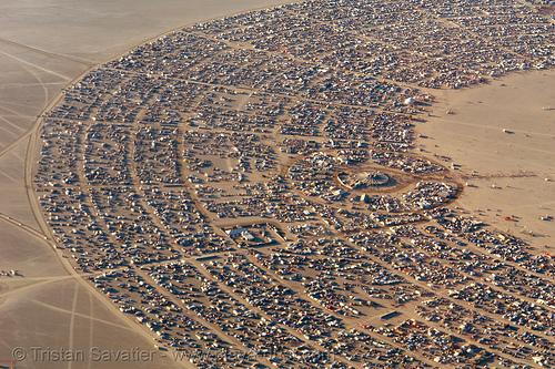 black rock city (nevada) - aerial - burning-man 2006, aerial photo, black rock city, burning man, cityscape, urban development, urban planning