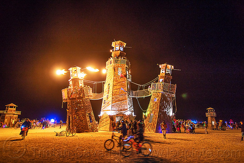 the black rock lighthouse service - burning man 2016, art installation, black rock lighthouse, burning man, fire, flames, light house, night