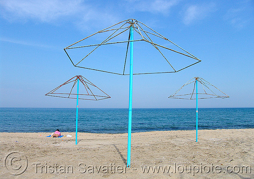 black sea beach - umbrellas, beach sand, beach umbrellas, blue, empty, horizon, seashore, shore, three, българия