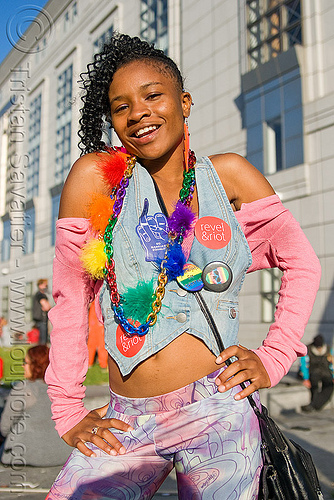 black teen girl - gay pride (san francisco), black woman, gay pride festival, girl