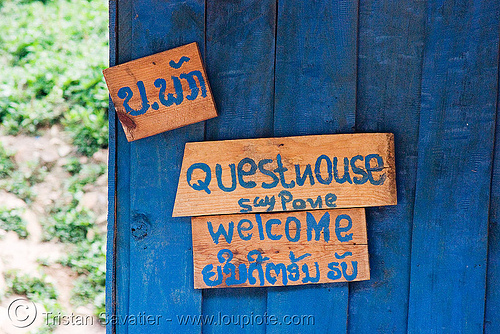 blue guesthouse (laos), blue guesthouse, pak mong